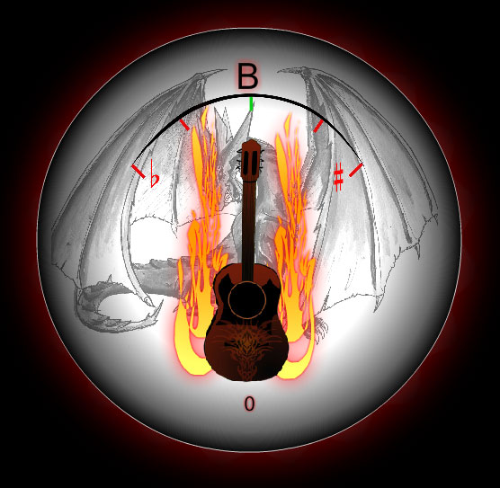 Fire Guitar Tuner tunes your guitar instantly